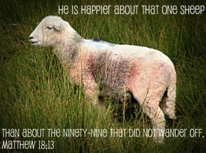 lost sheep found by Jesus
