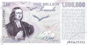 reverse of Million Pound note