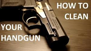 how to clean your handgun
