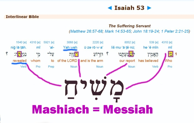 Jesus Christ the Messiah in Hebrew